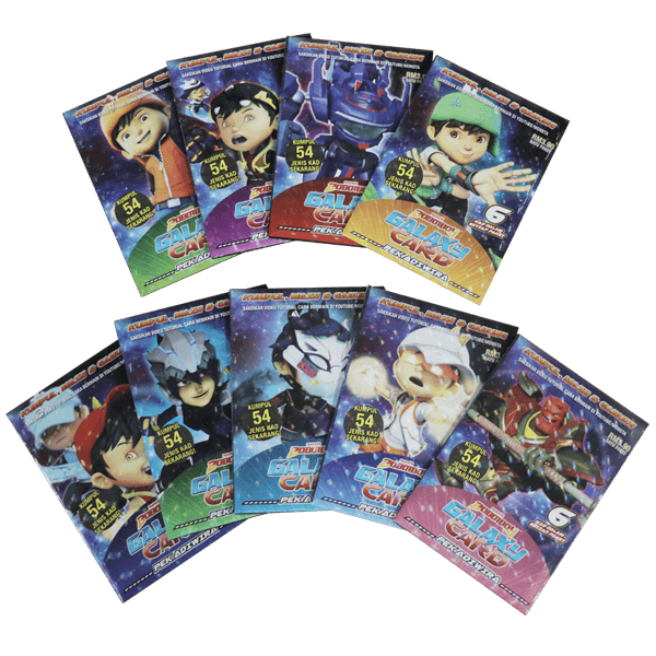 BoBoiBoy Galaxy Card Set (54 Cards)
