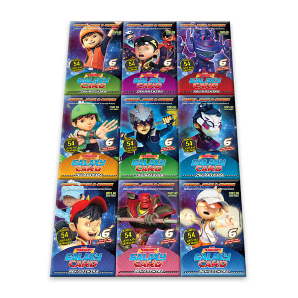 Boboiboy Galaxy Card Set Pek Adiwira 54 Cards Monsta Store