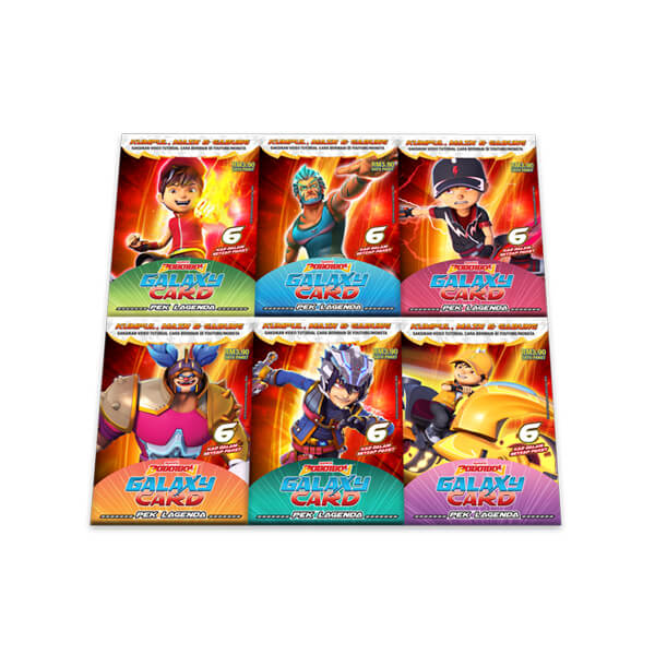 Boboiboy Galaxy Card Set Pek Lagenda 36 Cards Monsta Store
