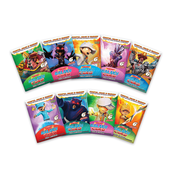 Boboiboy Galaxy Card Set Pek Unggul 54 Cards Monsta Store