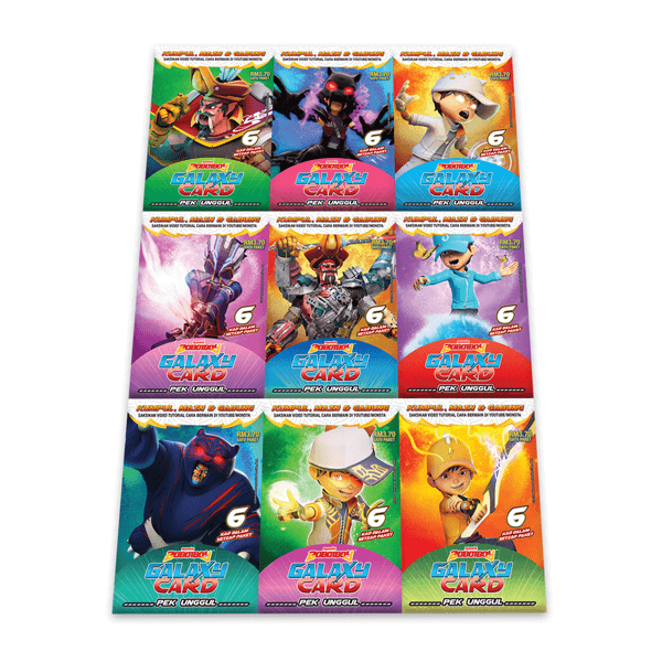 Boboiboy Galaxy Card Set Pek Unggul 54 Cards Monsta Store